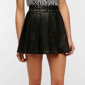 Silence + Noise Studded Faux Leather Mini skirt 4